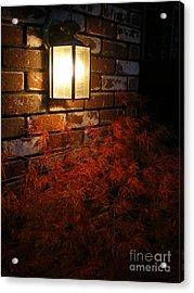 Lantern Light Maple Acrylic Print by Linda Battles