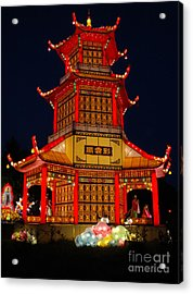 Acrylic Print featuring the photograph Lantern Lights by Vivian Christopher