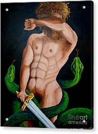 Laocoon And The Two Snakes Acrylic Print