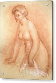 Large Bather Acrylic Print by Pierre Auguste Renoir