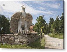 Large Bird Statuary Acrylic Print by Jaak Nilson