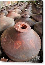 Large Earthenware Pots Acrylic Print by Yali Shi