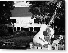 large guitar outside Grand Ole Opry House building Nashville Tennessee USA Acrylic Print by Joe Fox