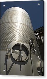 Large Steel Vat For Wine Making Acrylic Print by James Forte