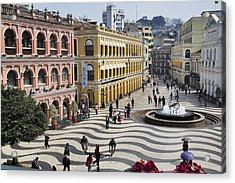 Largo Do Senado (senado Square) Acrylic Print by Manfred Gottschalk