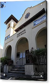 Larkspur City Hall - Larkspur California - 5d18471 Acrylic Print by Wingsdomain Art and Photography