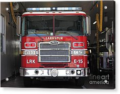 Larkspur Fire Department Fire Engine - Larkspur California - 5d18474 Acrylic Print by Wingsdomain Art and Photography