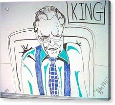Larry King Acrylic Print by Allen Walters