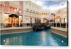 Las Vegas Gondola  Acrylic Print by Susan Stone