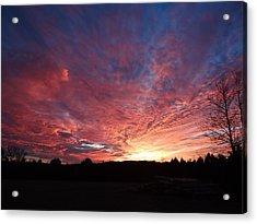 Lascassas Sunset Two Acrylic Print by Carol Berning