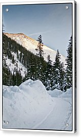 Last Glance At The Mountain Acrylic Print by Lisa  Spencer