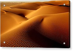 Last Light In The Ubari Sand Sea, Libyan Sahara Acrylic Print by Joe & Clair Carnegie / Libyan Soup