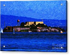 Last Light Over Alcatraz Acrylic Print