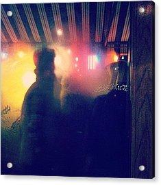 Last Night. Smokers Outside Of Sequoia Acrylic Print