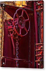 Last Red Caboose Acrylic Print by Ken Stanback