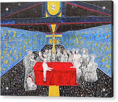 Last Supper The Reunion Acrylic Print by Marwan George Khoury
