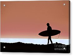 Last Wave Acrylic Print by David Taylor