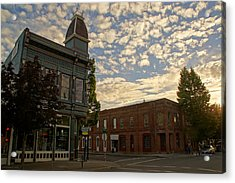 Late Afternoon At The Corner Of 5th And G Acrylic Print
