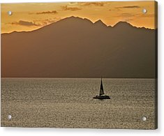 Late Afternoon Cruise In The Paniolo Channel Acrylic Print by Kirsten Giving
