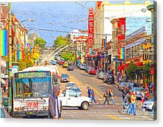 Late Morning Early Autumn In The Castro In San Francisco Acrylic Print by Wingsdomain Art and Photography