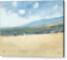 Late Summer Cornfields Acrylic Print by Alan Daysh