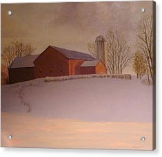 Late Winter At The Lufkin Farm Acrylic Print by Mark Haley