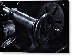 Acrylic Print featuring the photograph Lathe Handle by Tom Singleton