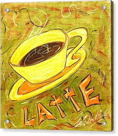 Latte Acrylic Print by Lee Halbrook