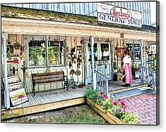 Lauber's General Store Acrylic Print by Tom Schmidt