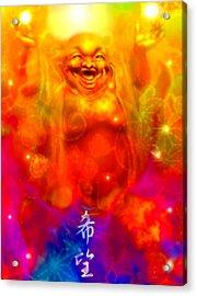 Laughing Buddha Acrylic Print by Konaa W