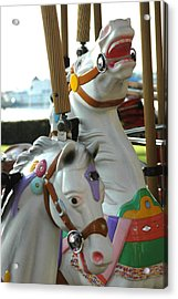 Laughing Horses Acrylic Print by Dolores Russo