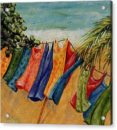 Laundry Day At The Beach Acrylic Print