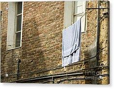 Laundry Hanging From Line, Tuscany, Italy Acrylic Print by Paul Edmondson