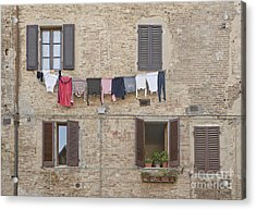 Laundry Out To Dry Acrylic Print by Rob Tilley