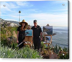 Laurel And I Painting Acrylic Print by Randy Sprout