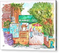 Laurel Canyon Market And Deli In Laurel Canyon, Hollywood Hills, California Acrylic Print