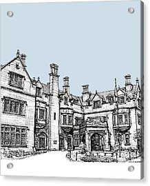 Laurel Hall In Light Blue Acrylic Print by Building  Art