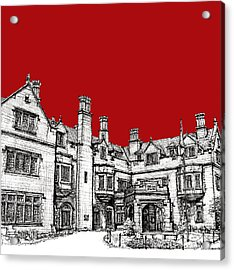 Laurel Hall In Red Acrylic Print by Building  Art