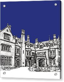 Laurel Hall Royal Blue Acrylic Print by Building  Art