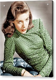 Lauren Bacall, Ca. 1946 Acrylic Print by Everett