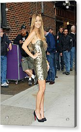 Lauren Conrad Wearing A Kate Moss Acrylic Print by Everett