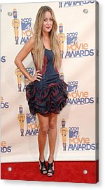 Lauren Conrad Wearing A Moschino Dress Acrylic Print by Everett