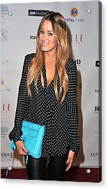 Lauren Conrad Wearing A Rebecca Minkoff Acrylic Print by Everett