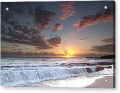 Lava Shelf Waterfall Acrylic Print by Roger Mullenhour