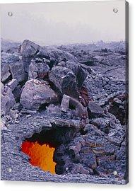 Lava Tube, Kilauea Volcano, Hawaii Acrylic Print by G. Brad Lewis