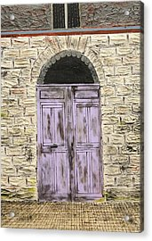 Lavender Door-france Acrylic Print