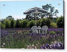 Lavender Tea Time Acrylic Print by Laurel Thomson