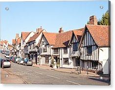 Lavenham High Street Acrylic Print by Tom Gowanlock