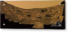 Layered Exposures Of Rock Acrylic Print by Stocktrek Images