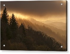 Layers Of Light Acrylic Print by Joseph Rossbach